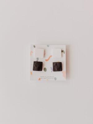 Paquete de cuadritos blanco y negro